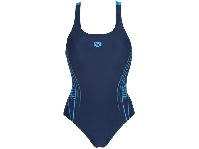 arena Fairness Swim Pro Back Traje Baño Una Pieza Mujer, navy/turquoise